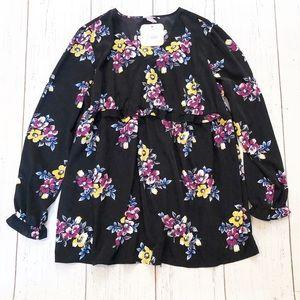 Isabel Maternity black floral long sleeve top XXL